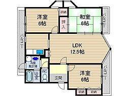 第2コーポタカイ[3階]の間取り