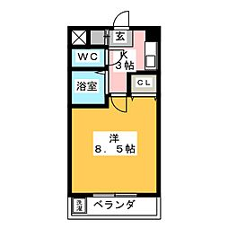マーレア104[2階]の間取り