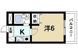 シティパレス21西大寺P-I[3階]の間取り