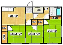 和加乃荘[3号号室]の間取り