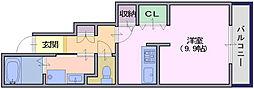 フォンテーヌN−5[1階]の間取り