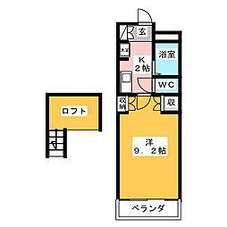 OSTクレスタ[4階]の間取り