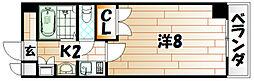 19-Cube[4階]の間取り