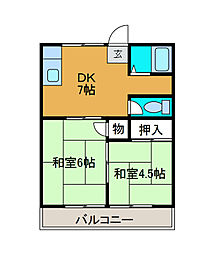 カナディアンハイツ八木[2階]の間取り