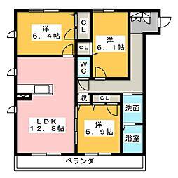 仮)ハートホーム名東区亀の井[2階]の間取り