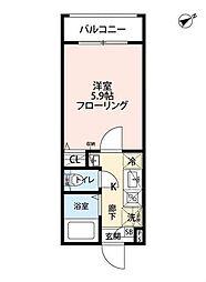 レガーロ東長崎 2階1Kの間取り
