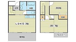 [テラスハウス] 兵庫県姫路市宮上町1丁目 の賃貸【兵庫県 / 姫路市】の間取り