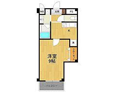 阪急甲陽線 甲陽園駅 徒歩24分の賃貸マンション 1階1Kの間取り