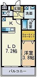 プレミールNakamaIII[403号室]の間取り