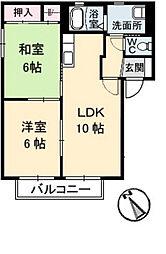 カミーリア C棟[2階]の間取り