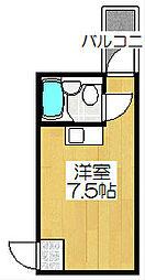 柑泉堂ビル[3-D号室]の間取り
