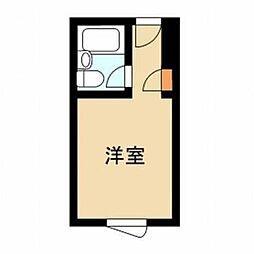 東京都新宿区神楽坂3の賃貸マンションの間取り