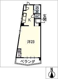 五藤ビル杁中[3階]の間取り