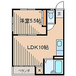 成瀬ハイツ[3階]の間取り