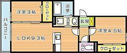 クレール緑[2階]の間取り