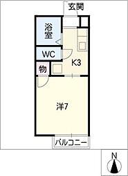 タウン自由ヶ丘[2階]の間取り