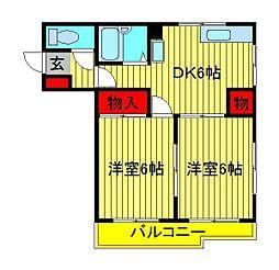 キャッスル・イン[402号室]の間取り