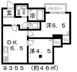 ミューゼ21[102号室号室]の間取り