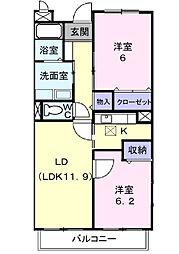 ソレアード・K[3階]の間取り
