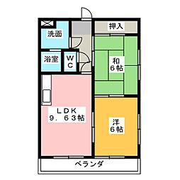 インペリアル八事[3階]の間取り