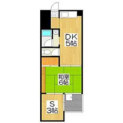第二北豊マンション[206号室]の間取り