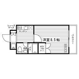 学生会館 HS PLAZAII[5階]の間取り
