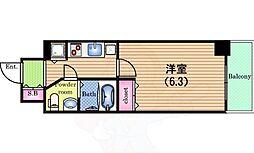 Osaka Metro中央線 阿波座駅 徒歩3分の賃貸マンション 5階1Kの間取り