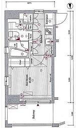 ヴォーガコルテ笹塚アジ—ルコート[3階]の間取り