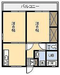コンフォートHIDAKA[202号室]の間取り