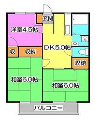 東京都清瀬市竹丘2丁目の賃貸アパートの間取り