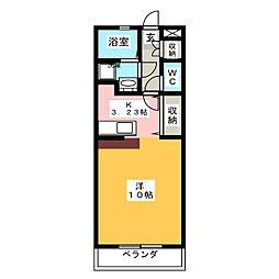 中嶋ハイツIIA[1階]の間取り
