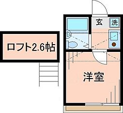 東京都足立区梅島1の賃貸アパートの間取り