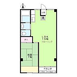 ニュー木原山ロッヂ[4階]の間取り
