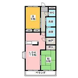 カーサファミリア[2階]の間取り