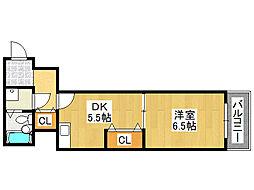 オークダイト[2階]の間取り