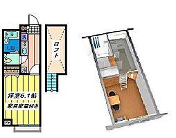 埼玉県さいたま市岩槻区城南4丁目の賃貸アパートの間取り