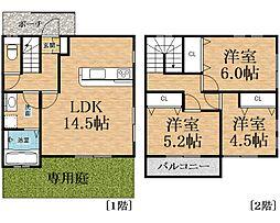 [テラスハウス] 千葉県千葉市中央区生実町 の賃貸【/】の間取り
