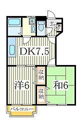 ヴォーヌングI[1階]の間取り