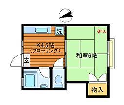ハウスセブン[1階]の間取り