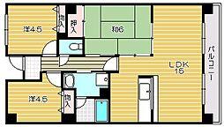 若園11番館[4階]の間取り