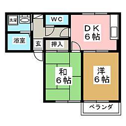 ヴィステリアA[2階]の間取り