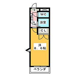 フラワール駒方[1階]の間取り