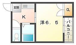 K'sサーラ[4階]の間取り