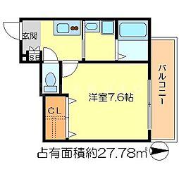 クリスタルコート[2階]の間取り