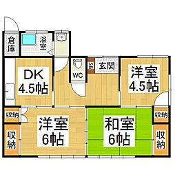 [一戸建] 長野県松本市寿中2丁目 の賃貸【/】の間取り