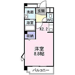 プリンスコート[3階]の間取り