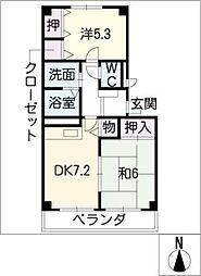 ファミーユ小杉[1階]の間取り