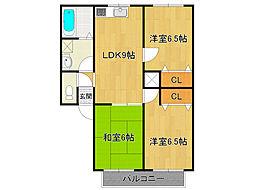 レトア武庫之荘[2階]の間取り
