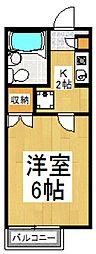 ウッディハウス[2階]の間取り