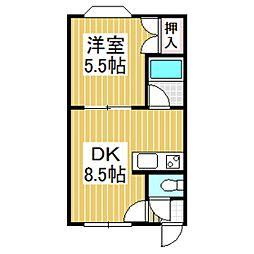 メゾン三晃[3階]の間取り
